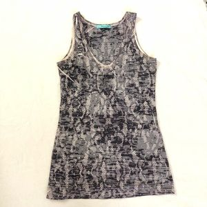 Hip Happening in the Present Floral Lace Tank